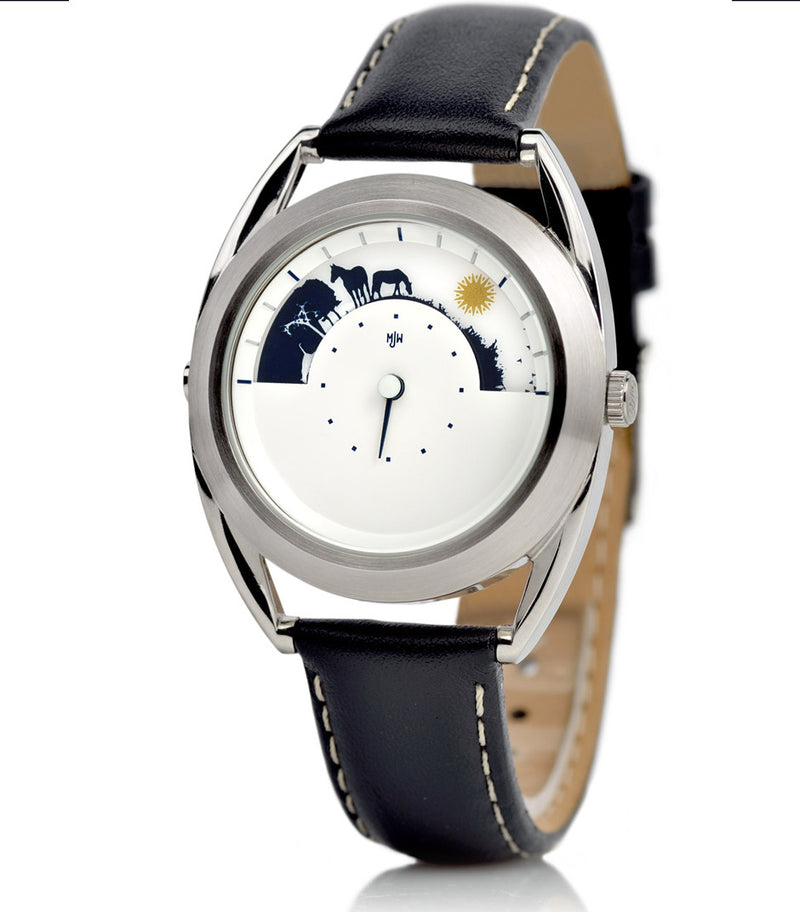 Sun and Moon watch, side view