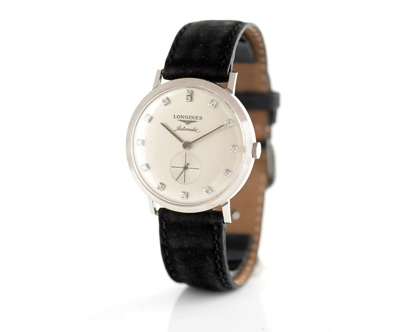 Longines white gold dress watch