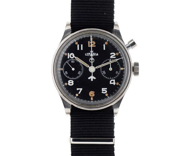 Lemania military chronograph