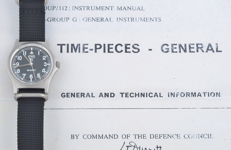 CWC G10 vintage watch serviced by Mr Jones Watches