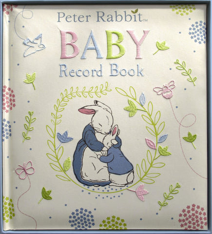 Baby Record Book, Peter Rabbit | Roses and the Stars