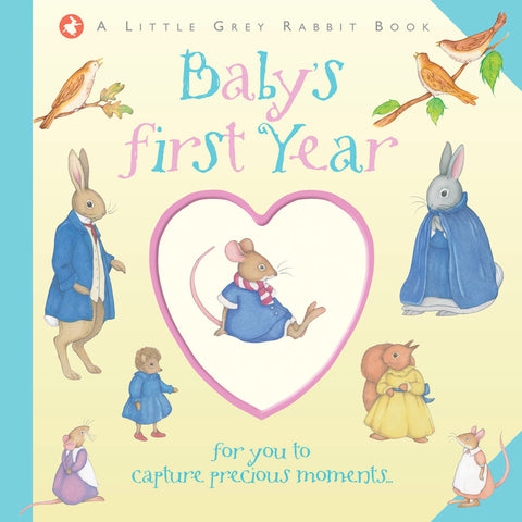 Baby Record Book, Little Grey Rabbit | Roses and the Stars