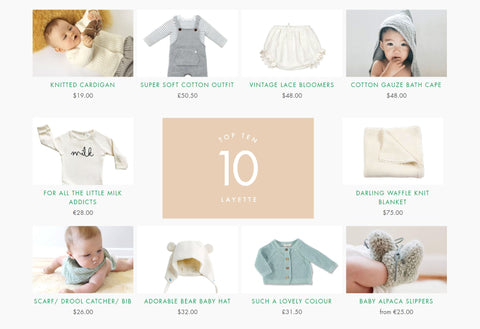 Babyccino Top 10 Layette