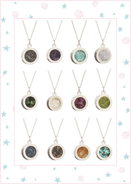 Birthstone Necklaces at Roses and the Stars
