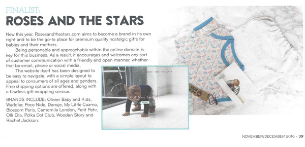 Childrenswear Buyer, Roses and the Stars Press