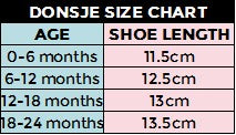 Donsje Shoes Size Chart