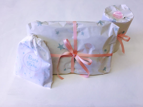 Roses and the Stars, Gift Wrapping, Baby shower gifts