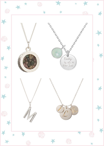 Personal necklaces for mums, mummy jewellery