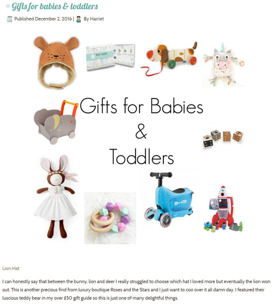 Chistmas Gifts For Babies and Toddlers | Roses and the Stars Press