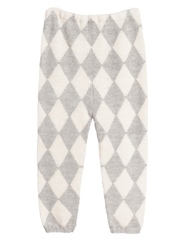 Waddler grey and cream harlequin trousers | Roses and the Stars