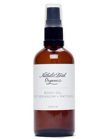 Nathalie Bond Organics, Rose and Patchouli body oil, pregnancy beauty products