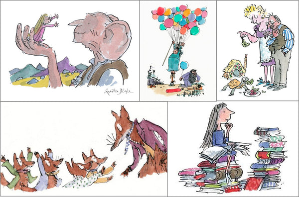 Quentin Blake childrens illustrations for Roald Dahl