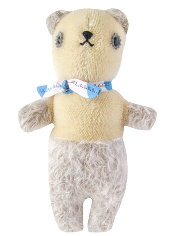 Polka Dot Club Scruffy Bear, Grey