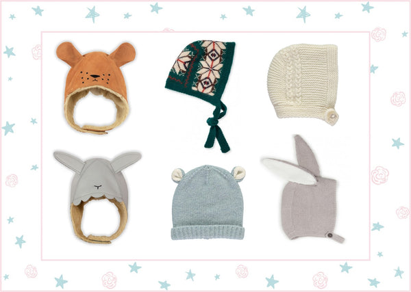Roses and the Stars, baby hat and bonnet favourites