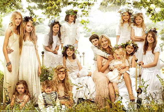 Fashion Photography, kate moss children, bridesmaid and page boys