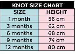 Knot Knidswear Size Chart | Roses and the Stars