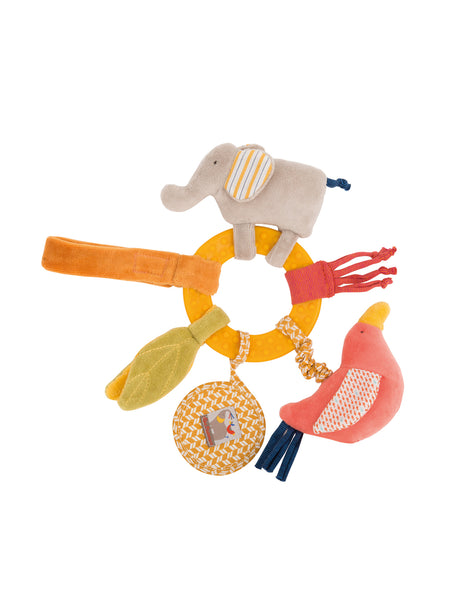 Buy Moulin Roty Activity ring and Rattle | Roses and the Stars