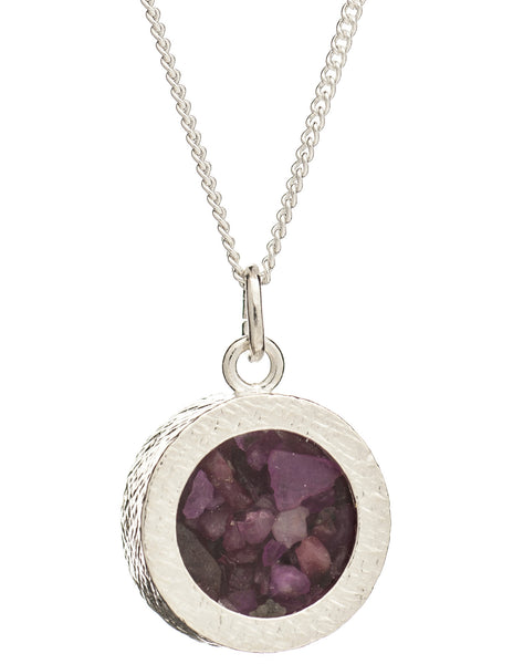 February Birthstone Necklace, Amethyst, Rachel Jackson London | Roses and the Stars