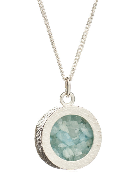 March Birthstone Necklace, Aquamarine, Rachel Jackson London | Roses and the Stars