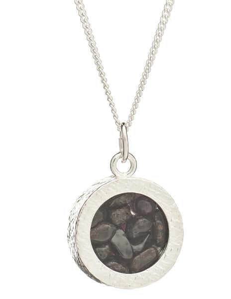 January Birthstone Necklace, Garnet, Rachel Jackson London | Roses and the Stars