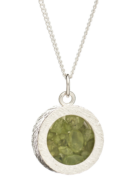 August Birthstone Necklace, Peridot, Rachel Jackson London | Roses and the Stars