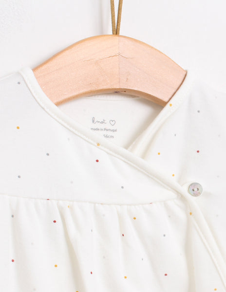 Buy Knot Kids Babygrow, Cream with autumn dots | Roses and the Stars