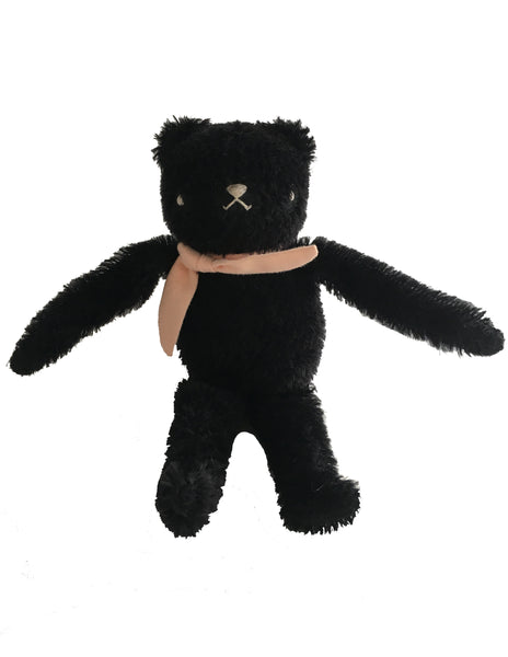 Buy Polka Dot Club Floppy Bear, Black | Roses and the Stars