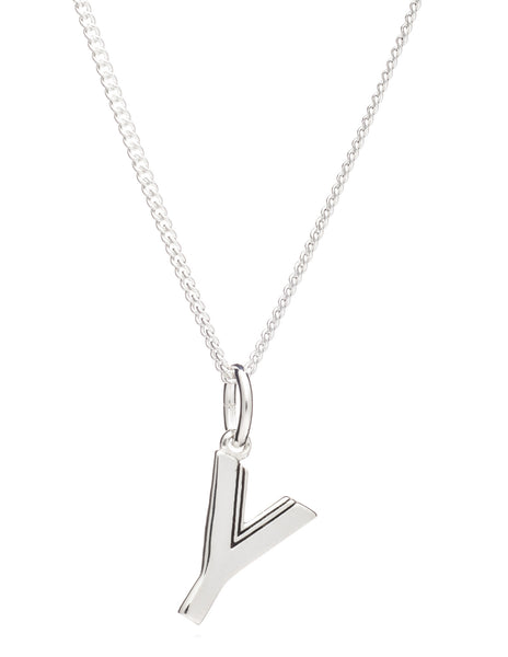 Y Initial Necklace, Sterling Silver, Rachel Jackson London | Roses and the Stars