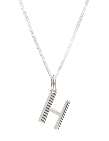 H Initial Necklace, Sterling Silver, Rachel Jackson London | Roses and the Stars