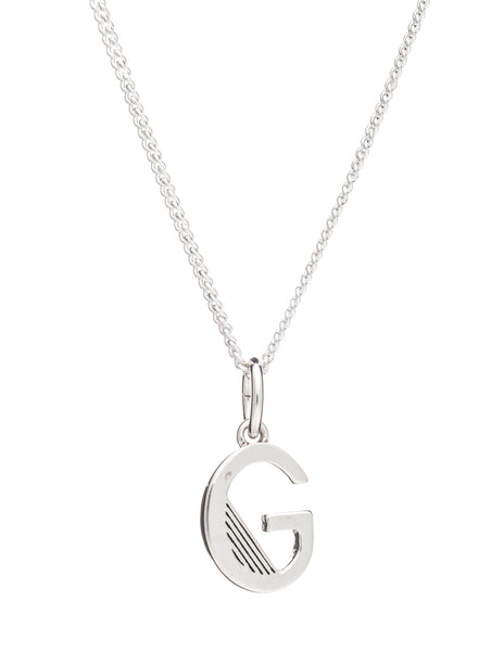 G Initial Necklace, Sterling Silver, Rachel Jackson London | Roses and the Stars