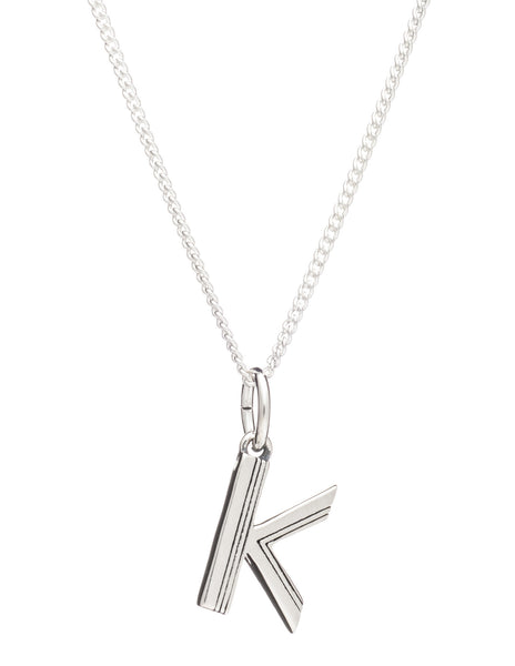 K Initial Necklace, Sterling Silver, Rachel Jackson London | Roses and the Stars