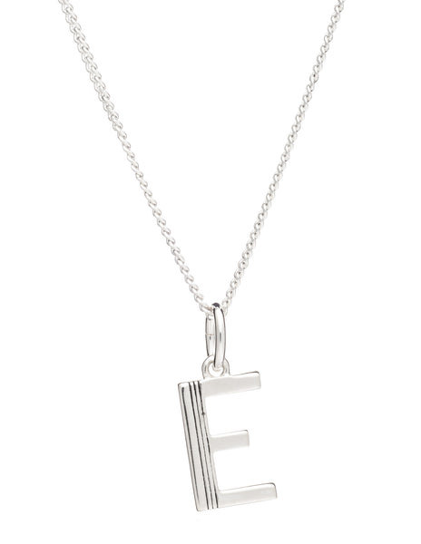 E Initial Necklace, Sterling Silver, Rachel Jackson London | Roses and the Stars