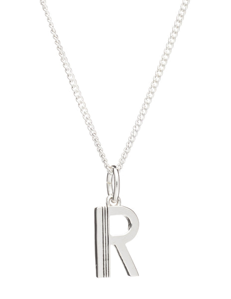 R Initial Necklace, Sterling Silver, Rachel Jackson London | Roses and the Stars