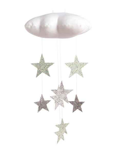 Willa and Bobbin Liberty Print Cloud Cot Mobile | Roses and the Stars