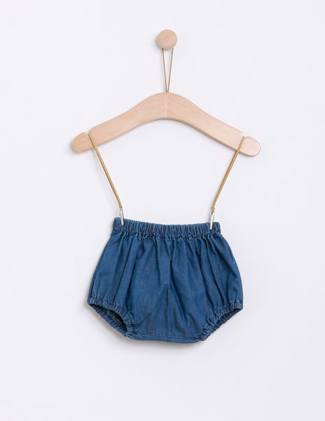 Buy Knot Denim Baby Bloomers | Roses and the Stars