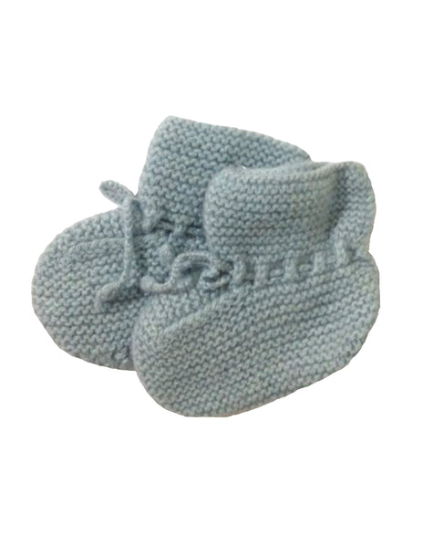 Buy Olivier Baby Duck Egg Cashmere Booties | Roses and the Stars