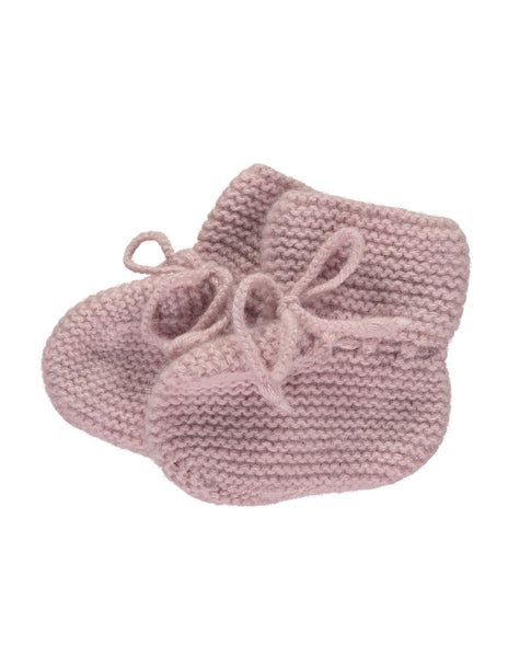 Buy Olivier Baby Cashmere Booties in Dusty Rose | Roses and the Stars