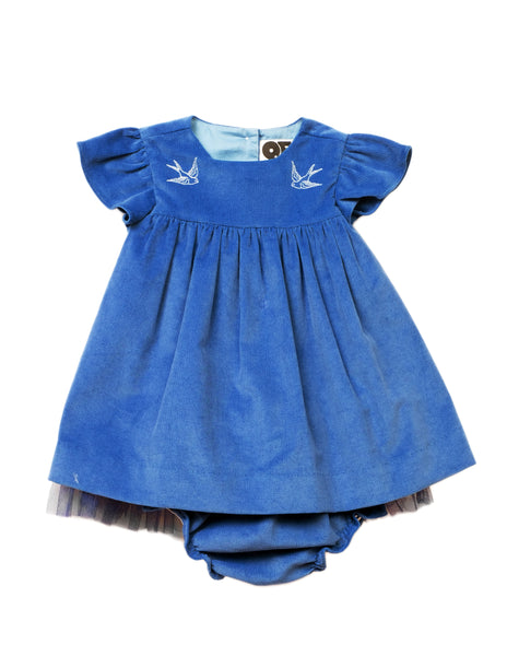 Buy Question Everything Blue Cord Dress | Roses and the Stars