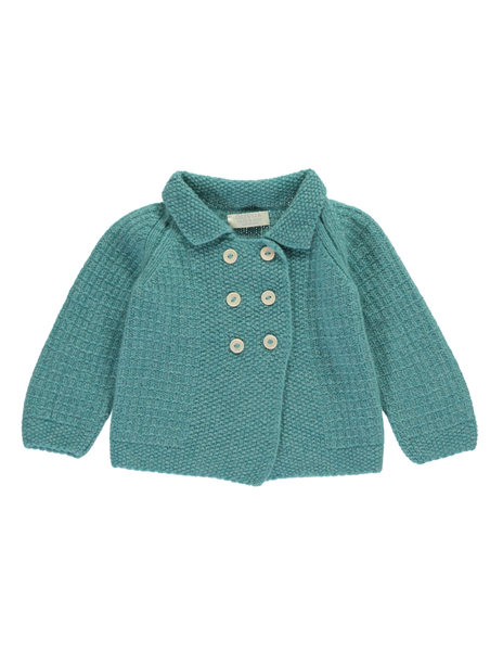Buy Olivier Baby Cashmere Peacoat, Jade Green | Roses and the Stars