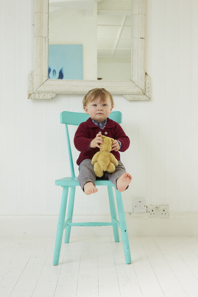 Buy Damson Cashmere Baby Cardigan | Roses and the Stars