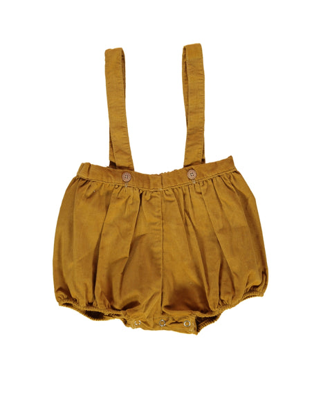 Buy Olivier Baby Corduroy Bloomers in Mustard | Roses and the Stars