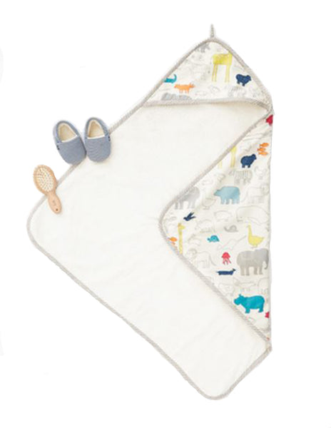 Hooded Towel with Noah's Ark Design | Roses and the Stars