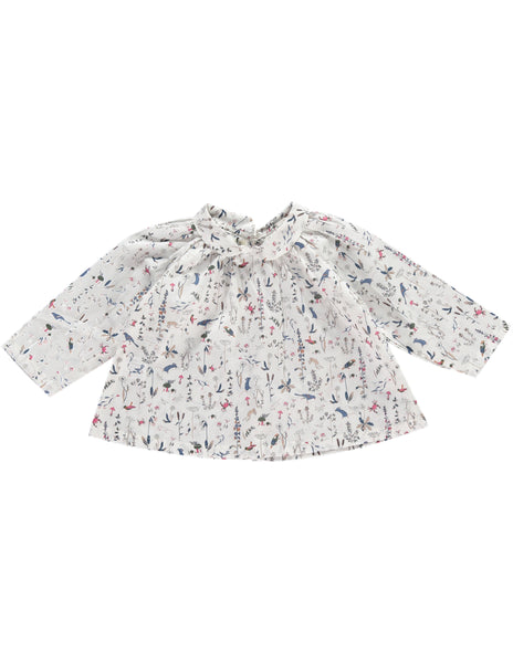 Buy Olivier Baby Liberty Print Blouse, Wildlife Design | Roses and the Stars