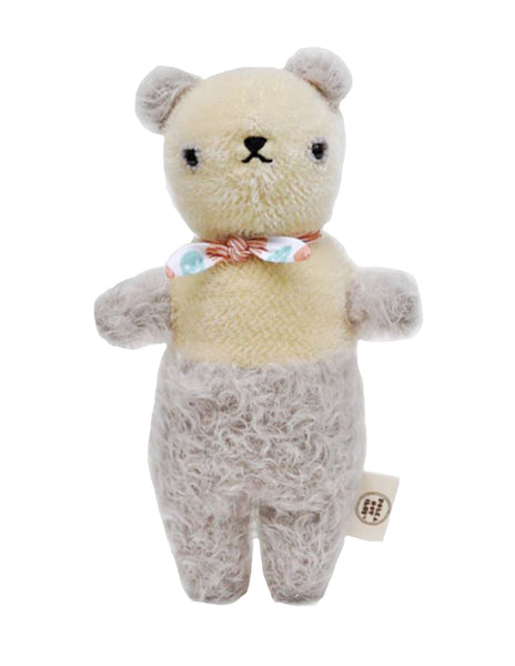 Buy Polka Dot Club Scruffy Bear, Grey | Roses and the Stars