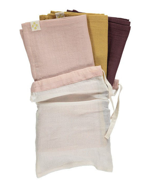 Buy Camomile London, baby muslin, burp cloth, pink | Roses and the Stars