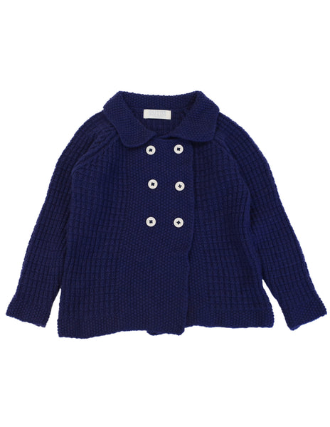Buy Navy Cashmere Baby Cardigan | Roses and the Stars