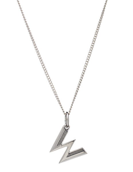 W Initial Necklace, Sterling Silver, Rachel Jackson London | Roses and the Stars