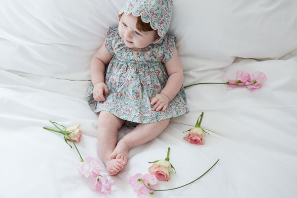 Buy Olivier Baby Liberty Print Bonnet | Roses and the Stars