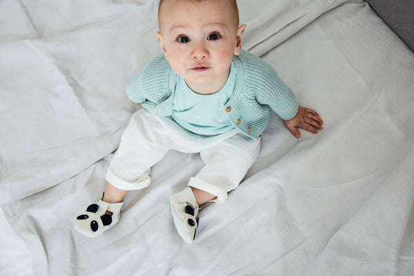 Buy White Cotton Trousers for Baby | Roses and the Stars