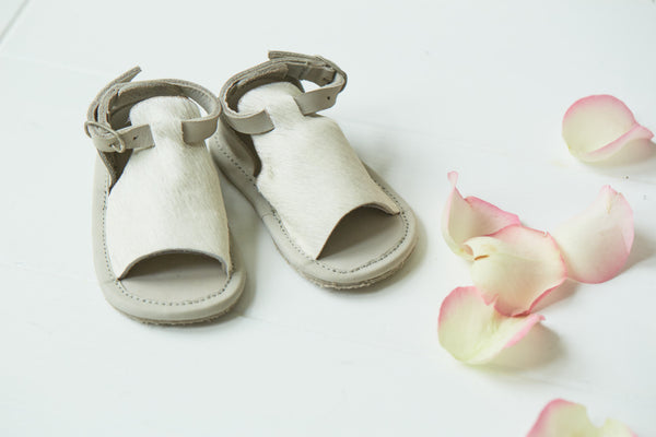 Buy Donsje Cow Hair Sandals for Baby | Roses and the Stars